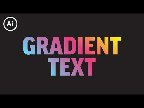 How to Add Gradient to Editable Text | Illustrator CC Tutorial