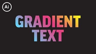 how to Add Gradient to Editable Text  Illustrator CC Tutorial