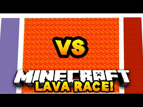 Minecraft RED Vs BLUE LAVA RACE! #1 W/ PrestonPlayz & Vikkstar123