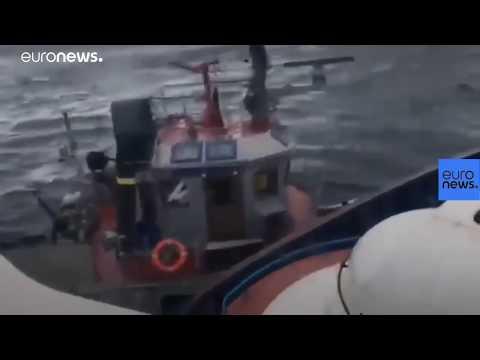 Watch: Russian vessel ram Ukraine boat