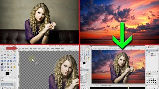 Gimp tutorial - How to combine / blend two pictures together