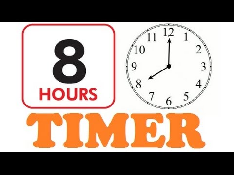8 Hour Timer With Loud Alarm