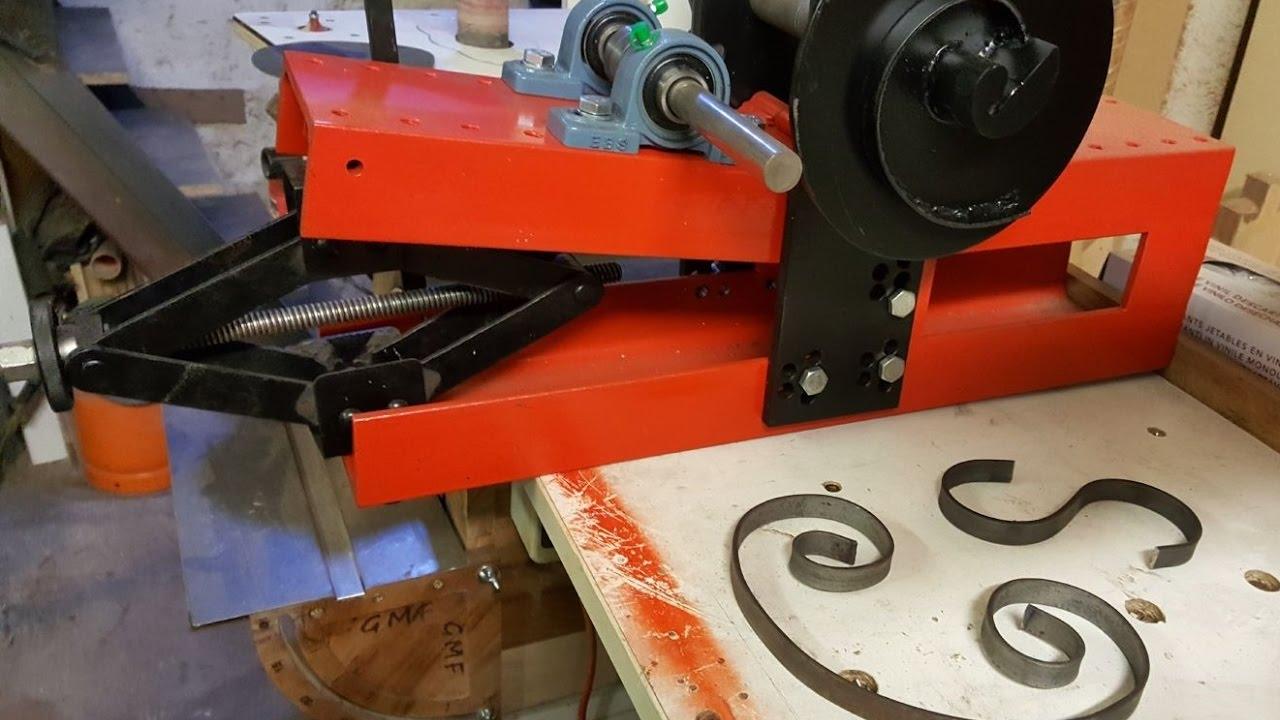 Costruzione Di Una Piegatrice Per Metalli Diy Roller Bender Youtube