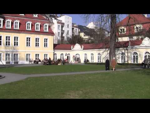 Gohliser Schlösschen Leipzig, Ansicht vom Garten