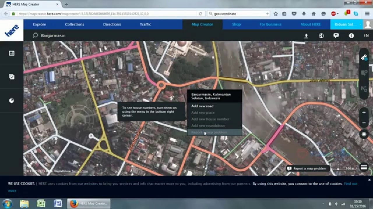 How to Check GeoCoordinate with Here Map Creator