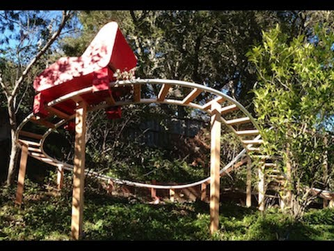 backyard pvc roller coaster finished track youtube