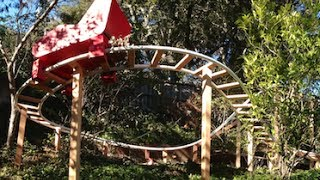 Backyard Pvc Roller Coaster - Finished Track!