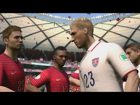 FIFA World Cup 2014: United States vs Portugal (Group G) Simulation (EA FIFA World Cup 2014 Brazil)