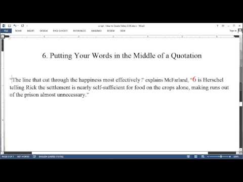 How to Quote - Chicago Style - Basics - YouTube