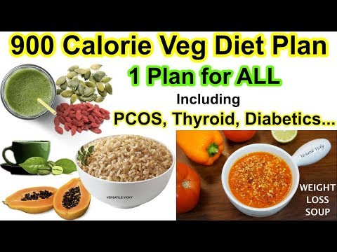 HOW TO LOSE WEIGHT FAST 10Kg in 10 Days | 900 Calorie Veg Diet Plan For Weight Loss