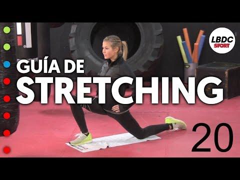STRETCHING - Rutina guiada, 8 ejercicios de 45'' recuperando 15'' (con explicaciones)