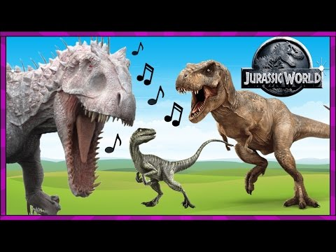 """""""JURASSIC WORLD ECHO"""" Dinosaur Song Video with REAL LIFE T-REX + Dancing DINOSAURS Toy Pals TV"""