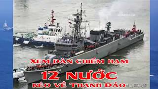 Xem dàn chiếm hạm 12 nước kéo về Thanh Đảo