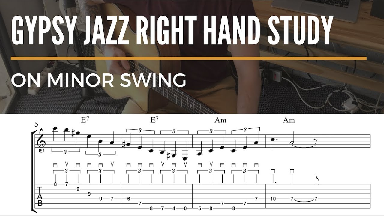Right Hand Study On Minor Swing - Gypsy Jazz Guitar Lesson
