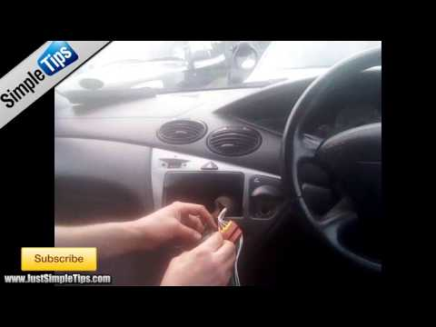 Schemi Elettrici Ford Focus : Radio installation ford focus  justaudiotips youtube