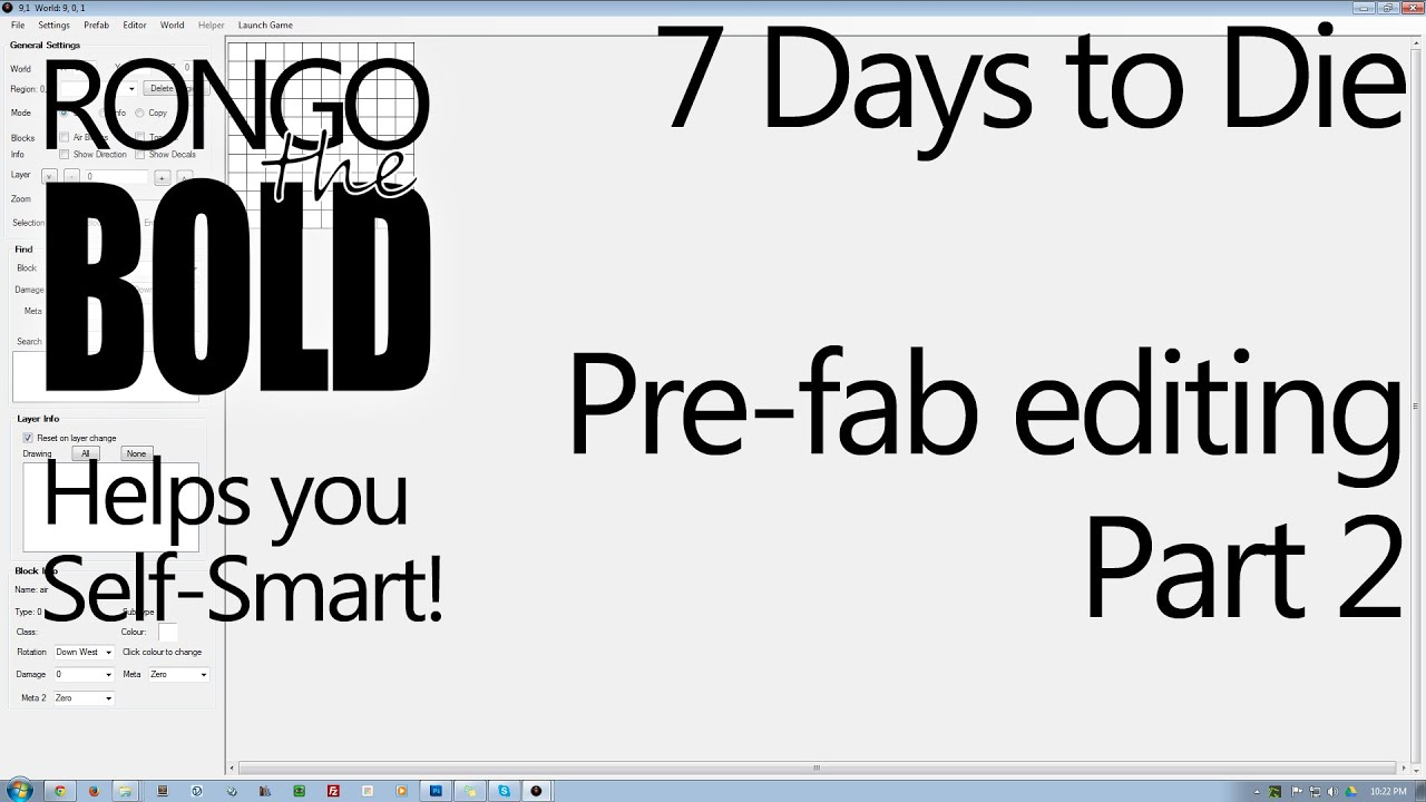 Self smarting 7 days to die prefab editor part 2 youtube