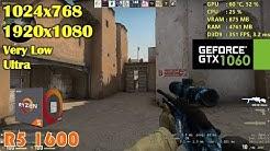 CS: GO on Ryzen 5 1600   SMT OFF VS SMT ON (FPS Differences