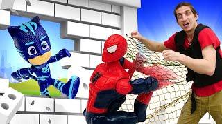 Человек Паук и Фабрика Героев в ловушке - Кэтбой обиделся на Супергероев! – Видео игры для мальчиков