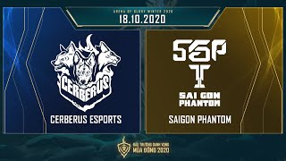Cerberus Esports vs Saigon Phantom   CES vs SGP - Vòng 14 ngày 2 [18.10.2020] - ĐTDV mùa Đông 2020