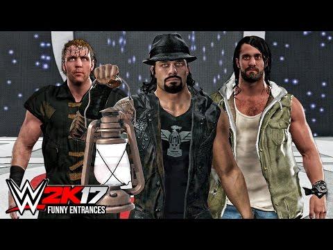 WWE 2K17 - Top 10 Funny Entrances ft John Cena, Roman Reigns, Undertaker, Rollins! ( PS4 & XB1 )