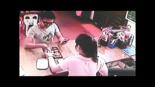 Shameless Thief Gets Caught Red Handed Trying To Steal Cash From Store Desk