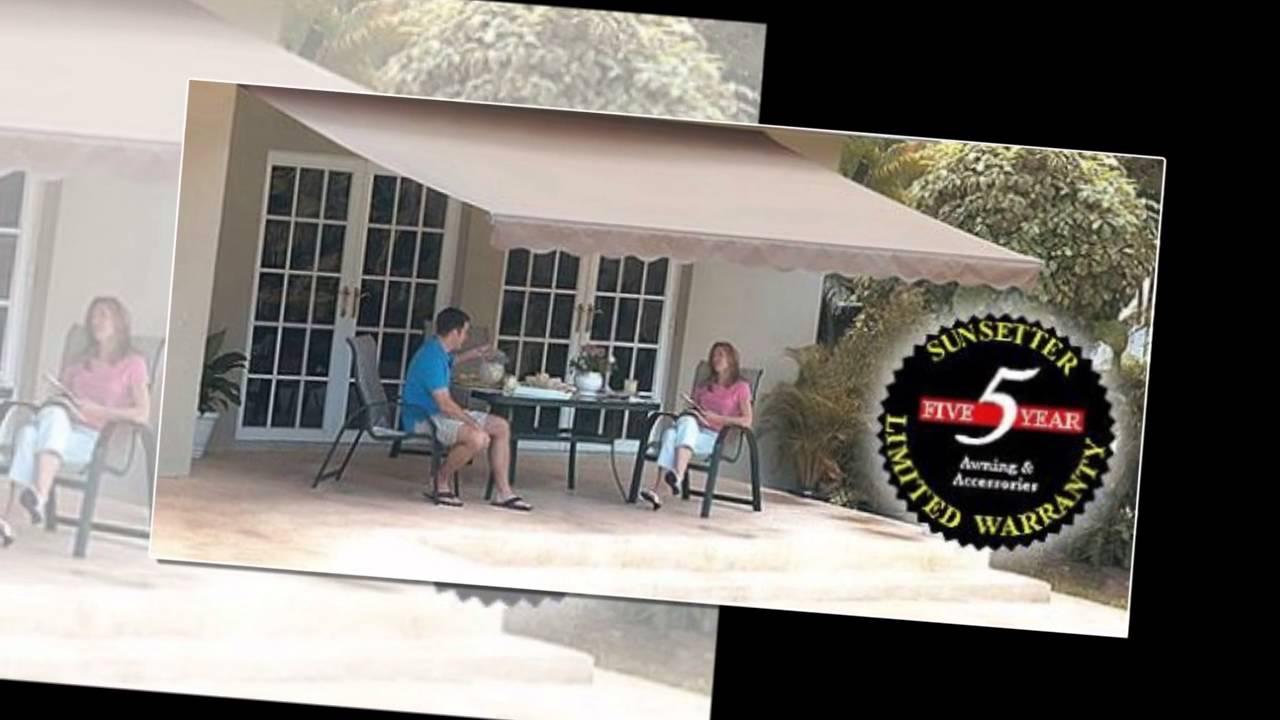 review   12FT SunSetter Black Stripe Motorized Awning ...