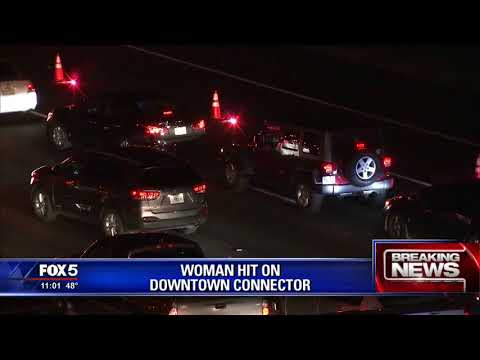 Woman hit on Downtown Connector