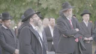 Protest in Vilna Against the Desecration of Jewish Graves