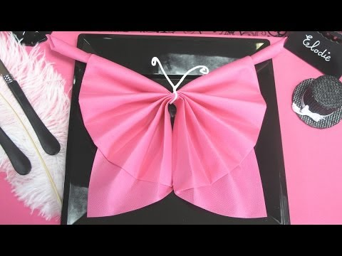 Pliage de serviette en forme de papillon youtube - Pliage de serviette original ...