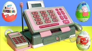 Just Like Home Pink Cash Register Toy Play Doh Surprise Toys Eggs - Caja Registradora para Niñas