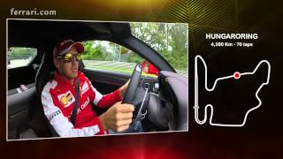 Sebastian Vettel describes a lap of the Hungaroring