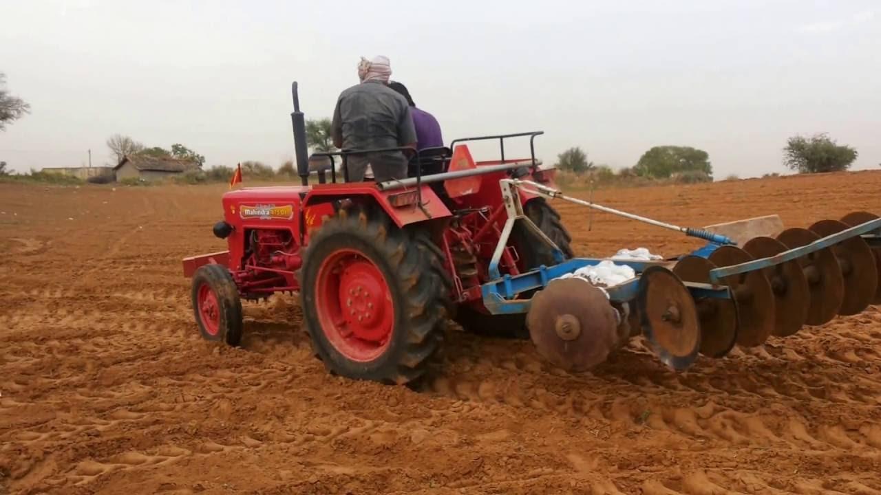 Driving Mahindra 475 DI Tractor