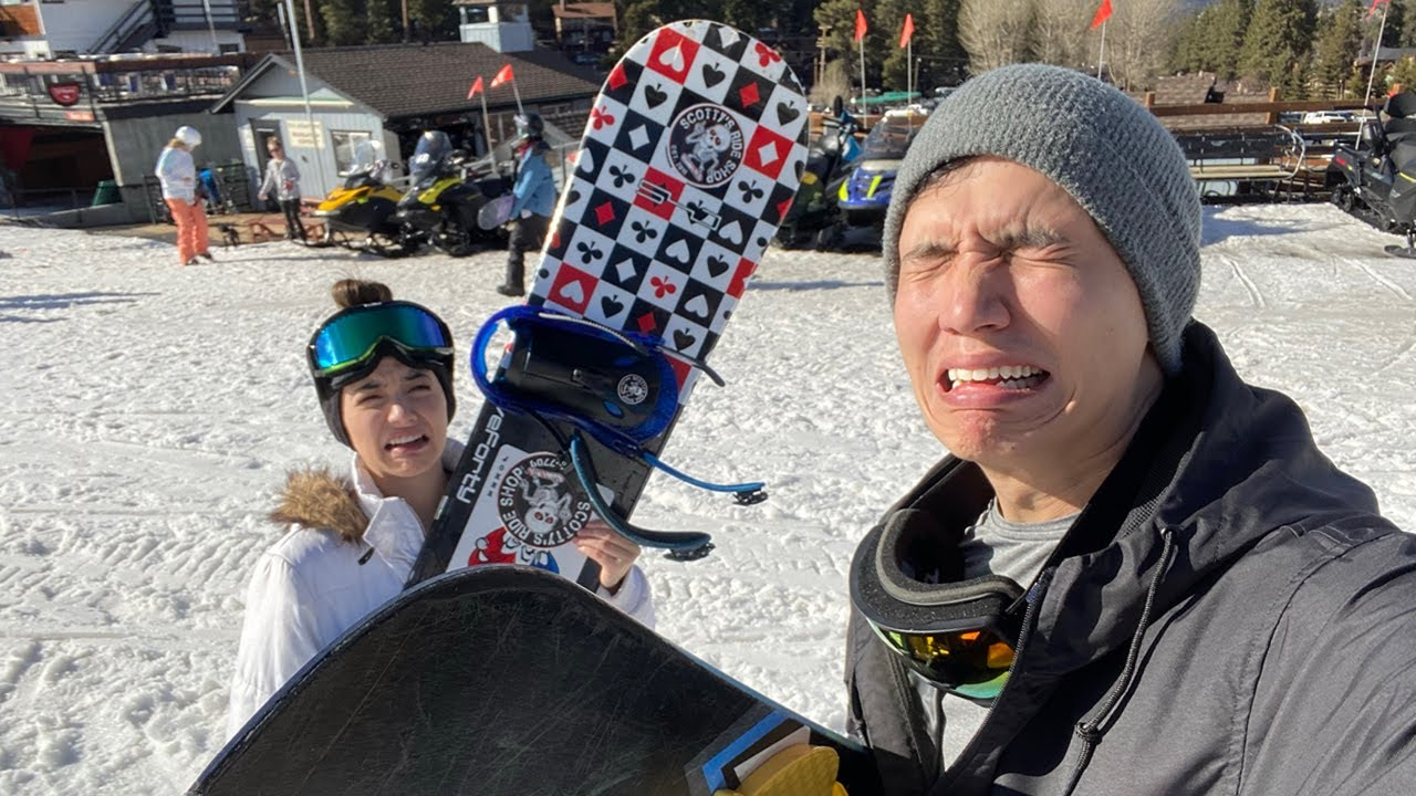 Our First Time Snowboarding (This didn't end well)