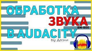 ОБРОБКА ЗВУКУ BM-800 В AUDACITY!