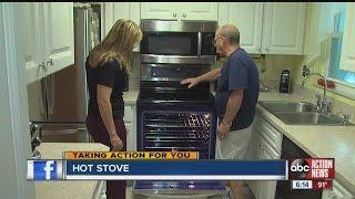 Hot Stove Damages Kitchen Cabinets Youtube