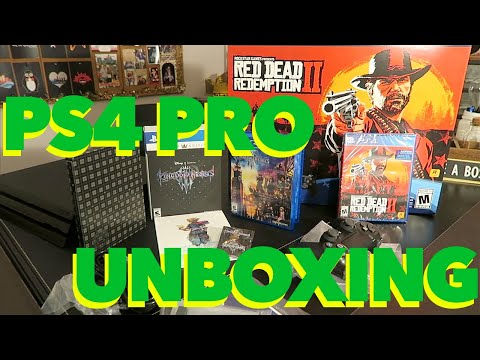 ps4-pro-unboxing-|-ps4-pro-red-dead-redemption-2-bundle-|-kingdom-hearts-3-deluxe-edition-unboxing