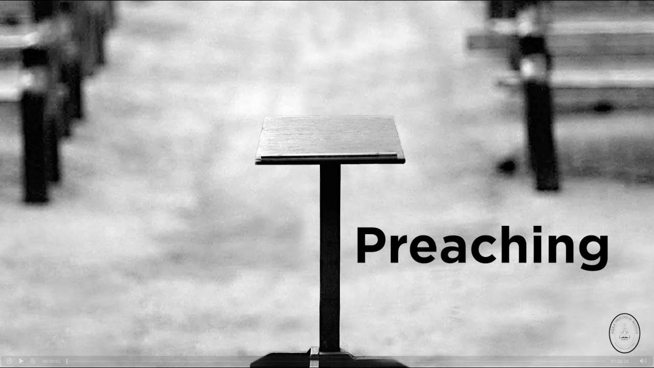 Preaching seminar 1 of 4 - Dr. David Page