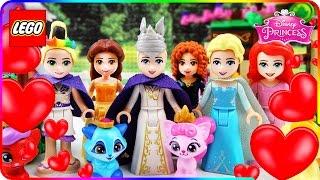 ♥ LEGO Disney Princess CANDY HEARTS RUSH Best Cartoons Compilation (Ariel, Frozen Elsa, Rapunzel...)