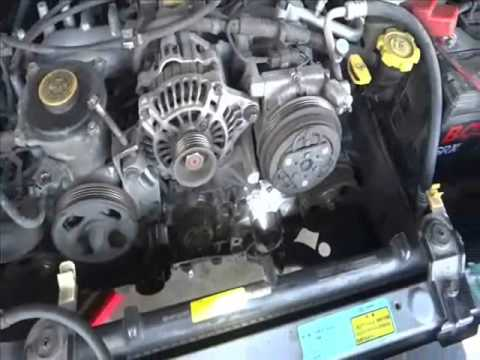 subaru ej18 timing belt - water pump replacement