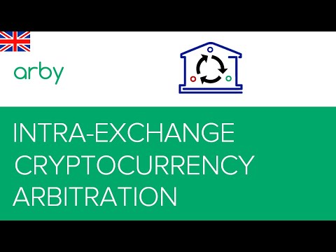 Intra-exchange arbitrage of cryptocurrencies using the Arby.Trade service
