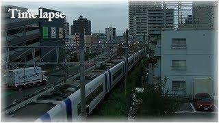 【タイムラプス動画 勉強中】名鉄 犬山線 岩倉駅 南側の朝の様子
