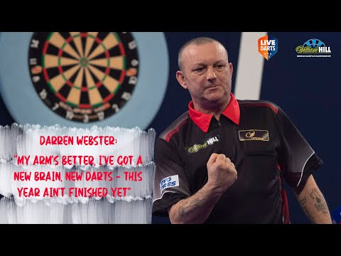 """Darren Webster: """"My arm's better, I've got a new brain, new darts – this year ain't finished yet"""""""