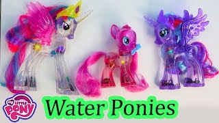 MLP Pinkie Pie Water Cuties Glitter Princess Luna Celestia Rainbow Shimmer My Little Pony Unboxing