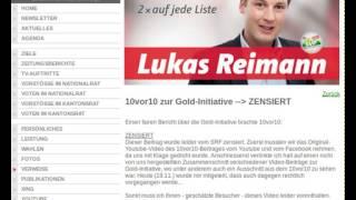 Schweizer-TV: Zensur der Sendung zur Goldinitiative?