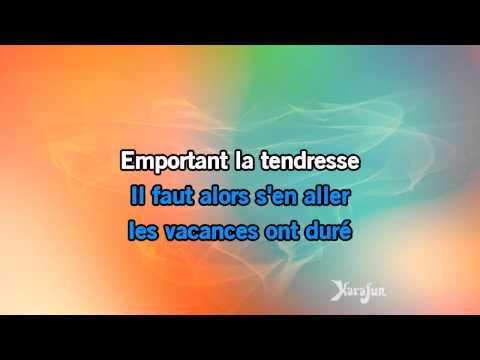 Karaoké Derniers baisers - Laurent Voulzy *