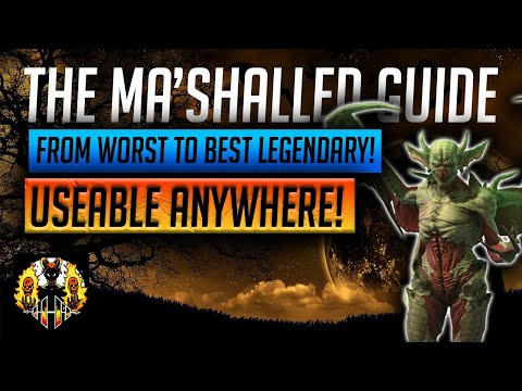 RAID: Shadow Legends   THE 'Ma'Shalled' GUIDE! From worst Legendary in the game to the best? INSANE!