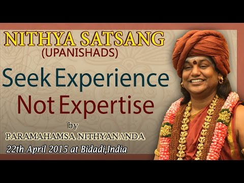 Seek Experience Not Expertise