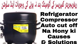 Refrigerator Compressor Auto Cutt Off Na Hony Ki Wajohaat And Solutions In Urdu/Hindi