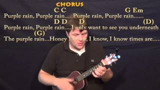 Purple Rain (prince) Ukulele Cover Lesson In G With Chords/lyrics