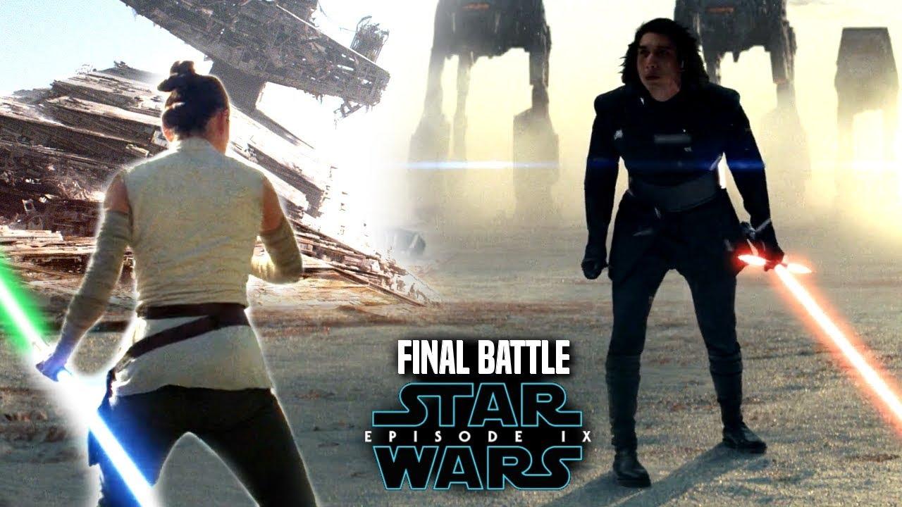 Star Wars Episode 9 Rey Vs Kylo Ren Final Battle Leaked Details More Youtube